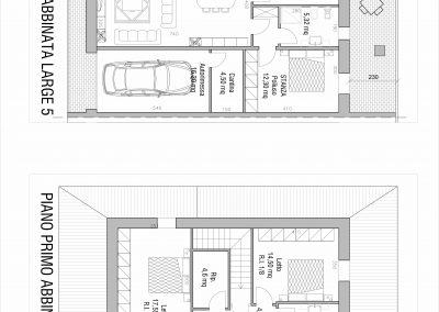Villa abbinata Large 05: planimetria