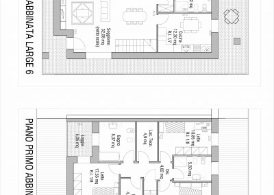Villa abbinata Large 06: planimetria