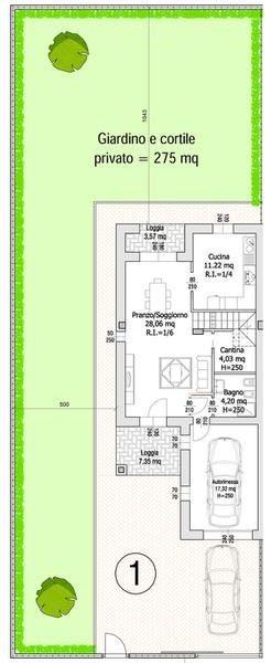Villa Compact 01- Planimetria generale
