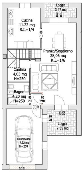 Villa Compact 01- Piano terra