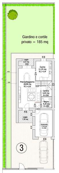 Villa Compact 03- Planimetria generale