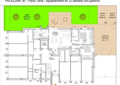 appartamento B1-mq 110,31 -Giardino privato mq 227