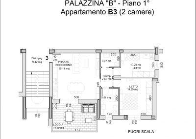 appartamento B3-mq 82,61