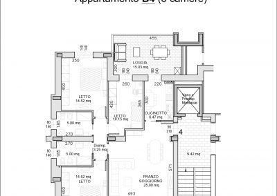 appartamento B4-mq 120,30