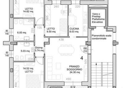 04 • Piano Primo di mq 107,27 con due logge