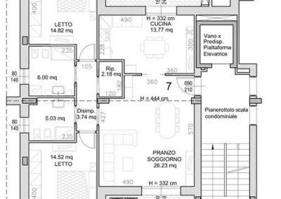 07 • Appartamento al Piano Secondo di mq 107,27 con due logge